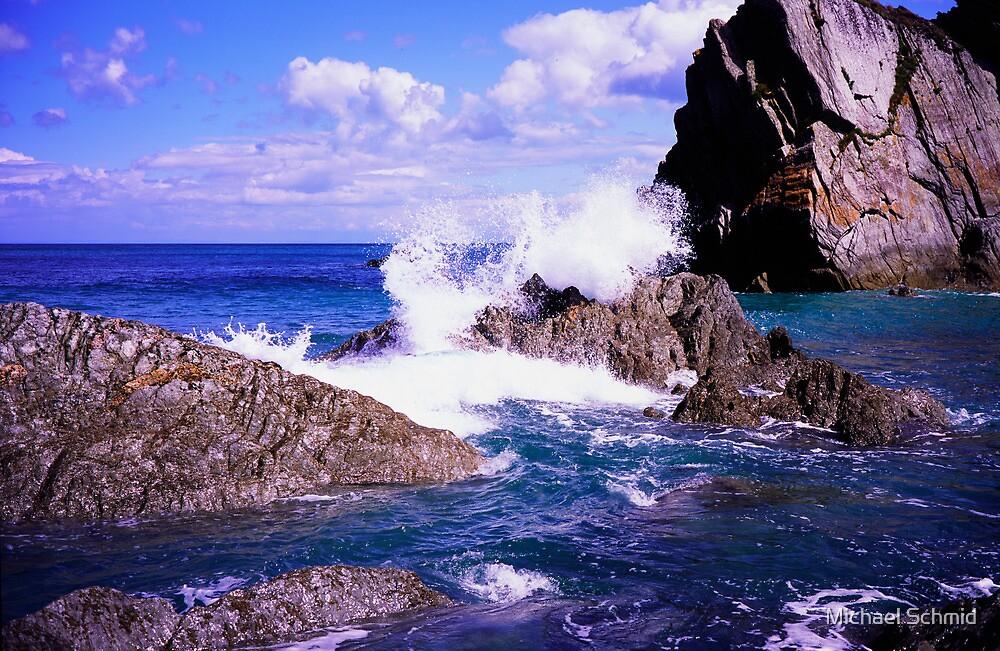 Devon rocky coast by Michael Schmid