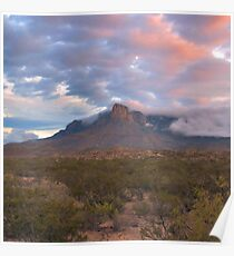 Guadalupe Mountains At Dawn Poster