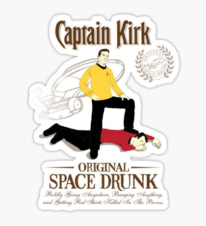 Original Space Drunk Sticker