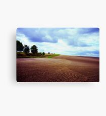 Ploughed field in Hertfordshire. Canvas Print
