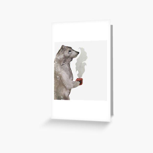 A Bear and his Mug Greeting Card