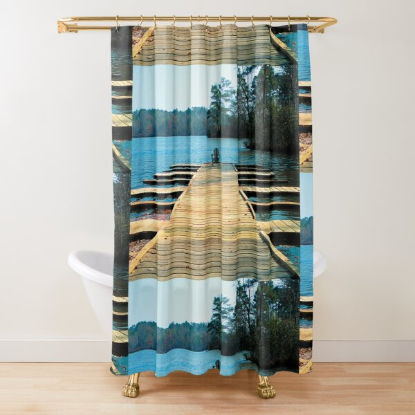 End of Pier Shower Curtain