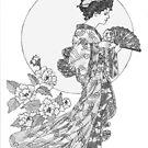 Nightingales & Peonies by redqueenself