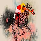 Colorful Racehorse in Typography by Ginny Luttrell