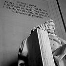 Lincoln Memorial, Black & White, Washington, D.C. by Michael Irrera