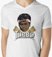 Turbo Street Cleaning Services Mens V-Neck T-Shirt