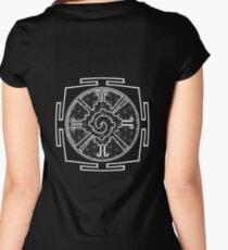 Hunabku_Yantra - Antar Pravas 2011 - Visionary Art Women's Fitted Scoop T-Shirt