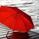 Red Umbrella by Karyn Boehmer