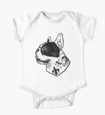 Tattooed French Bulldog One Piece - Short Sleeve