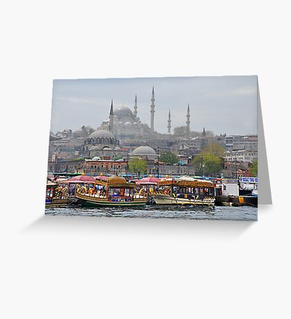 Boats and Mosques Greeting Card