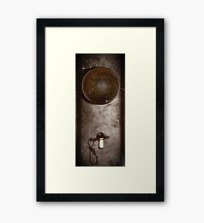 Key to the door Framed Print