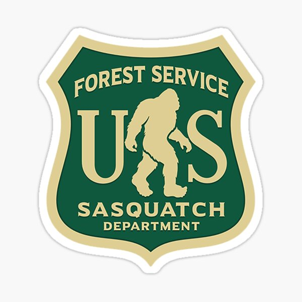 Bigfoot Department - Forrest Service  Sticker