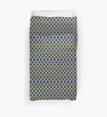Blue and Yellow matrix   Duvet Cover