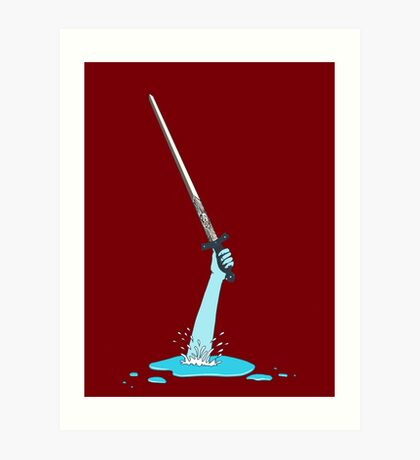 Excalibur and the Lady of the Puddle Art Print