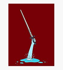 Excalibur and the Lady of the Puddle Photographic Print