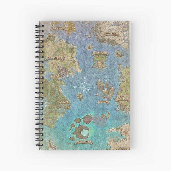 "Fantasy RPG Map - ""Corvidean Realm"" Spiral Notebook"
