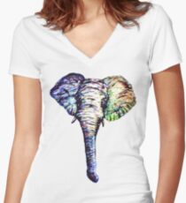 Elephantasm Women's Fitted V-Neck T-Shirt