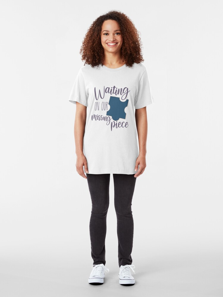 Alternate view of Waiting on Our Missing Piece Adoption Shirt Slim Fit T-Shirt