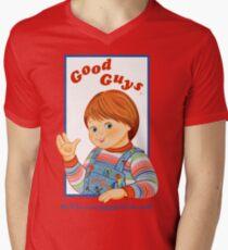 Kinderspiel - gute Kerle - Chucky T-Shirt mit V-Ausschnitt für Männer