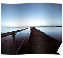 Silent blue - Geelong Waterfront Poster