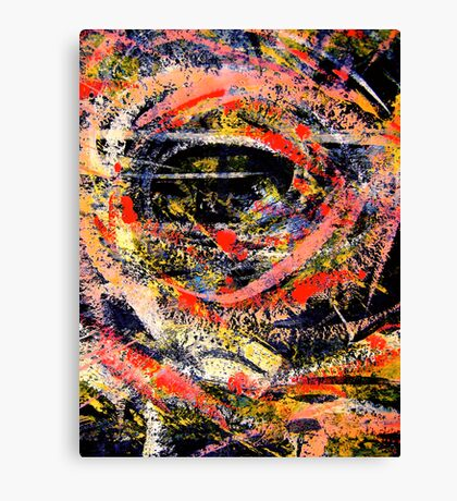 jungle eye... peering out Canvas Print