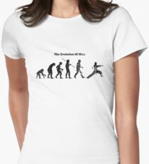 Evolution of Man - Martial Arts - Light [G] Women's Fitted T-Shirt