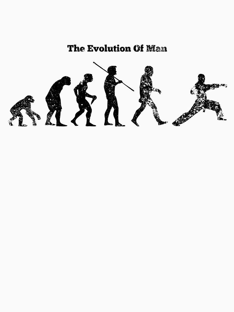 Evolution of Man - Martial Arts - Light [G] | Unisex T-Shirt