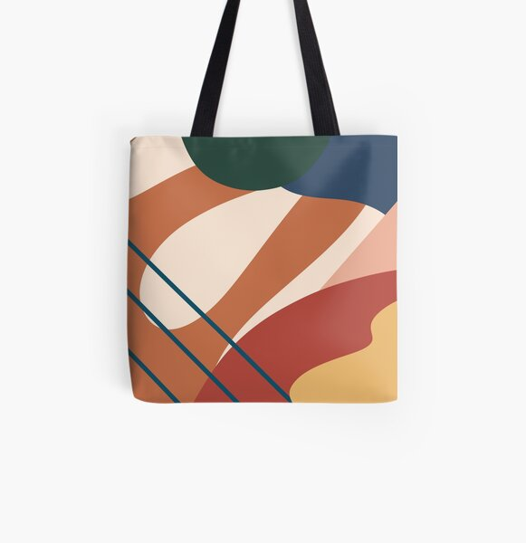 Abstraction All Over Print Tote Bag