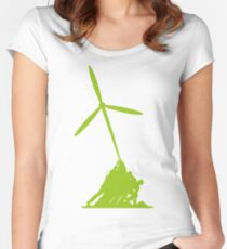 Raising wind turbines Women's Fitted Scoop T-Shirt