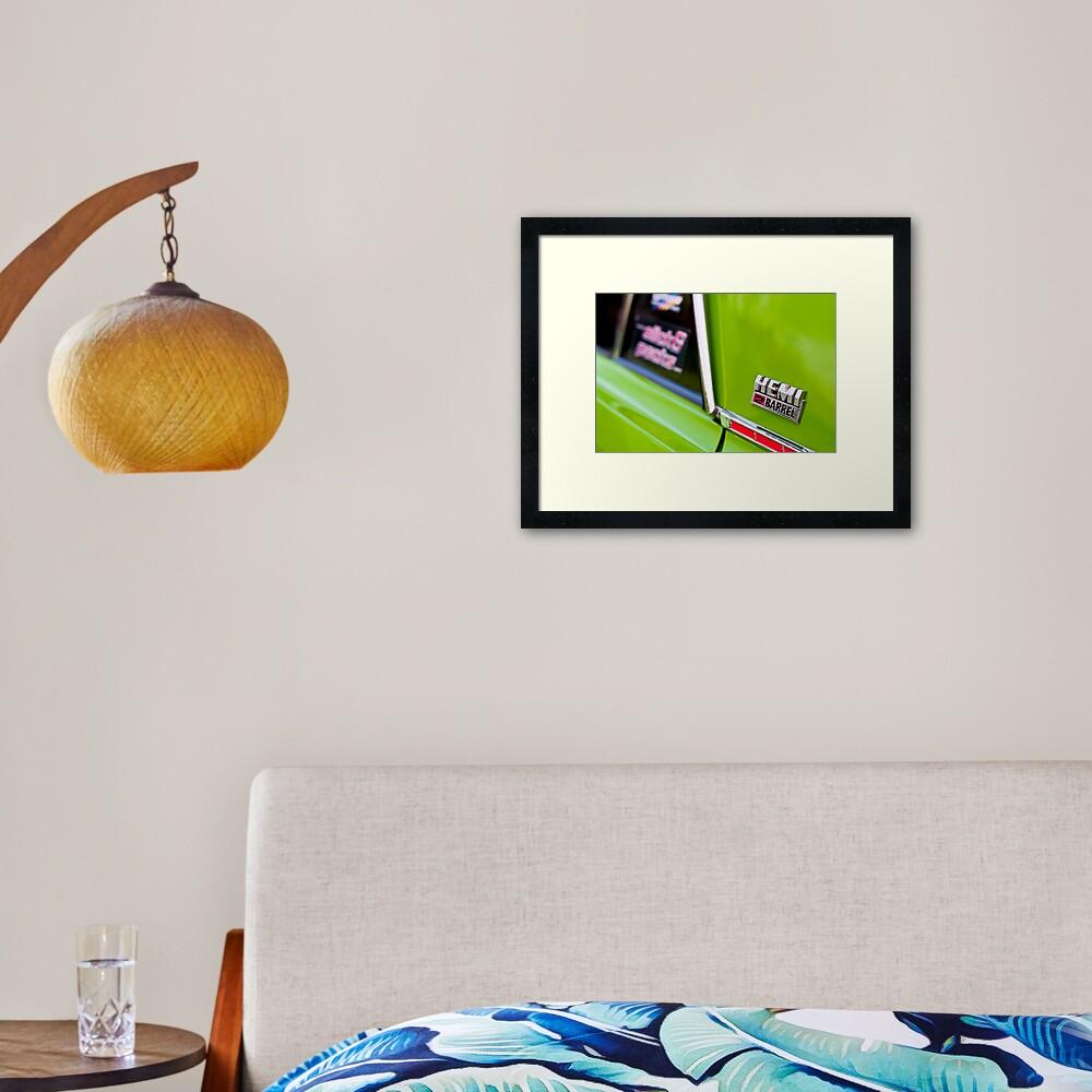 Green Pacer Hemi Framed Art Print
