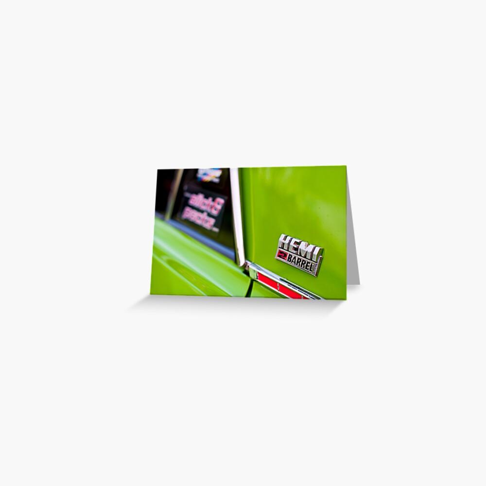 Green Pacer Hemi Greeting Card