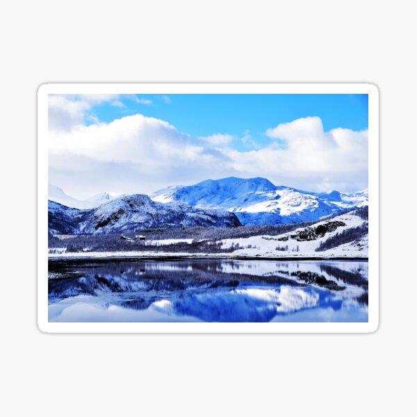 Mountains Norway Sticker