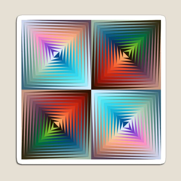 Victor #Vasarely, was a Hungarian-French #artist, who is widely accepted as a #grandfather and leader of the #OpArt movement Magnet