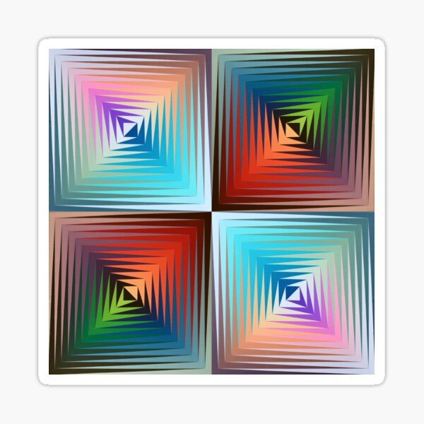 Victor #Vasarely, was a Hungarian-French #artist, who is widely accepted as a #grandfather and leader of the #OpArt movement Sticker
