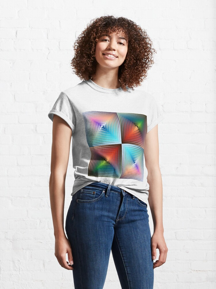 Alternate view of Victor #Vasarely, was a Hungarian-French #artist, who is widely accepted as a #grandfather and leader of the #OpArt movement Classic T-Shirt
