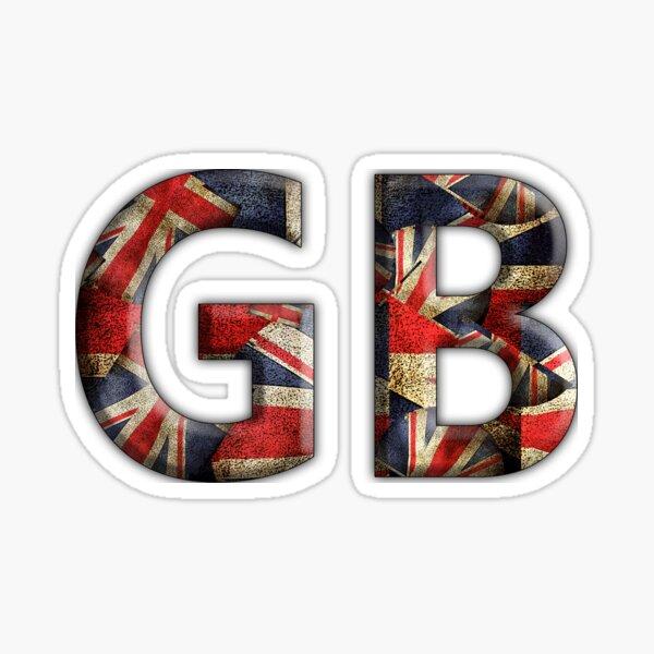 G B Union Jack Sticker