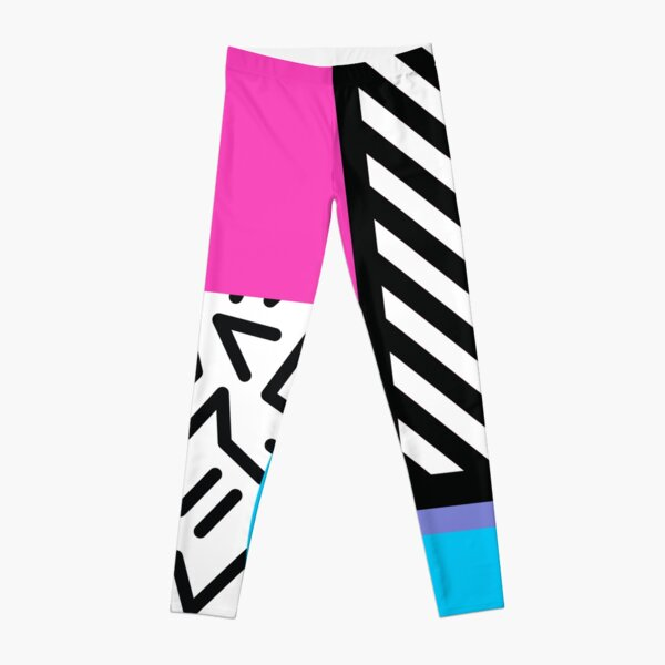 Colorful Retro Memphis Abstract Leggings