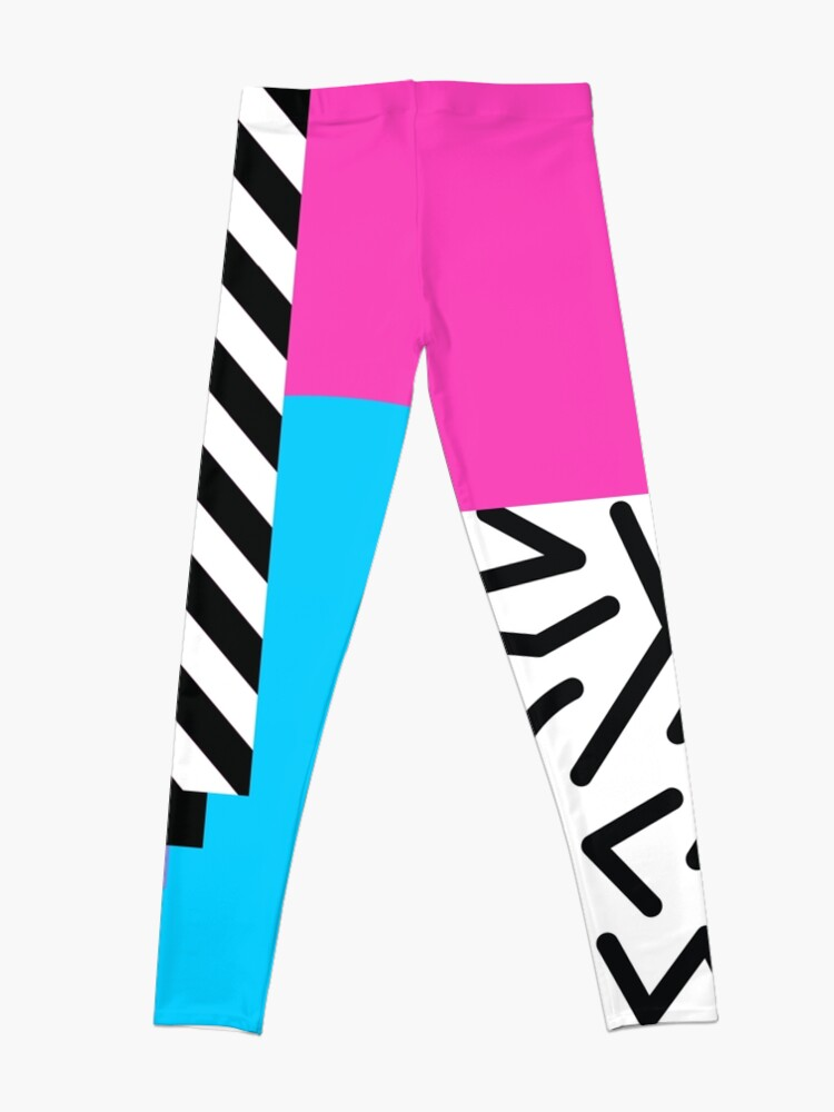 Alternate view of Colorful Retro Memphis Abstract Leggings