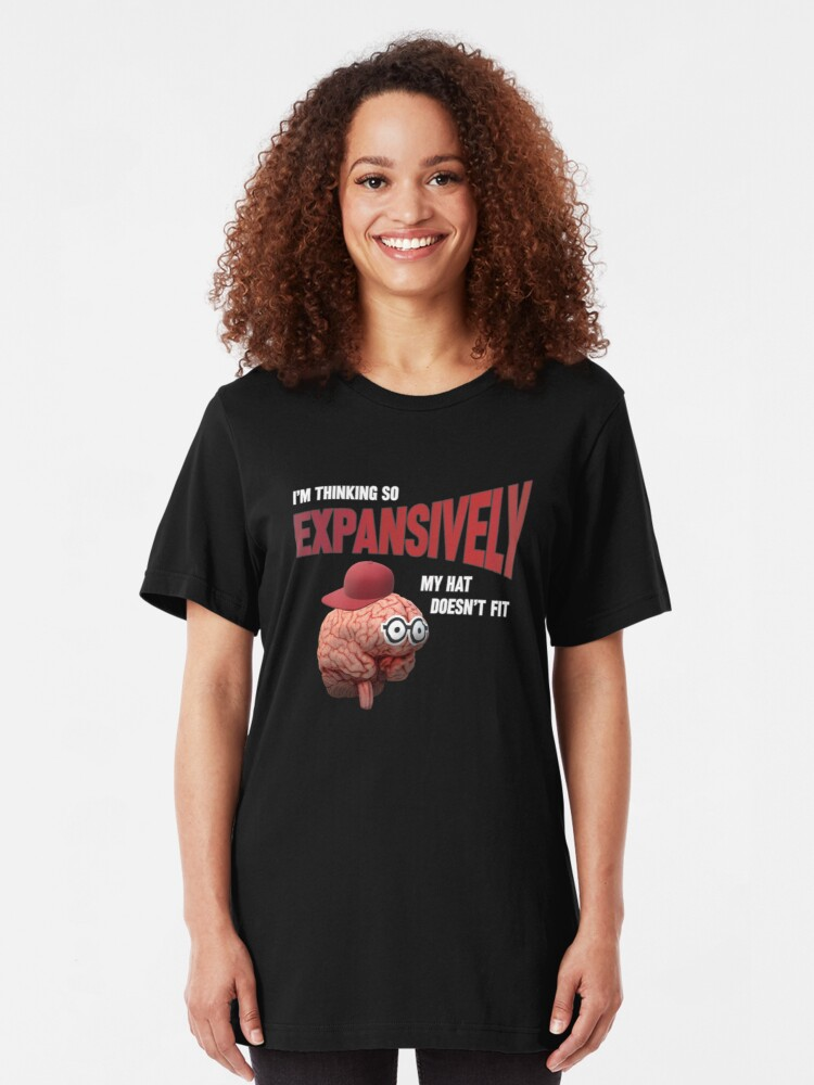 Alternate view of Expansive Thinking. Slim Fit T-Shirt