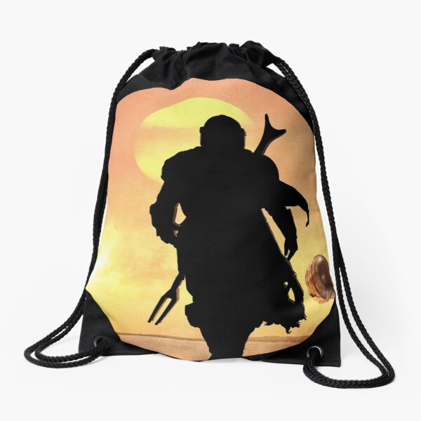 Mando Shadow Figure Drawstring Bag