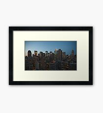 Manhattan in motion - uptown Framed Print