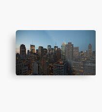 Manhattan in motion - uptown Metal Print