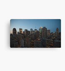 Manhattan in motion - uptown Canvas Print