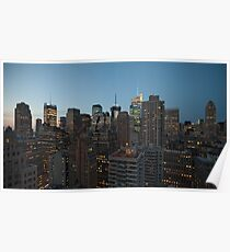 Manhattan in motion - uptown Poster