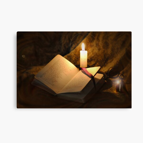 Bell, Book, and Candle Canvas Print