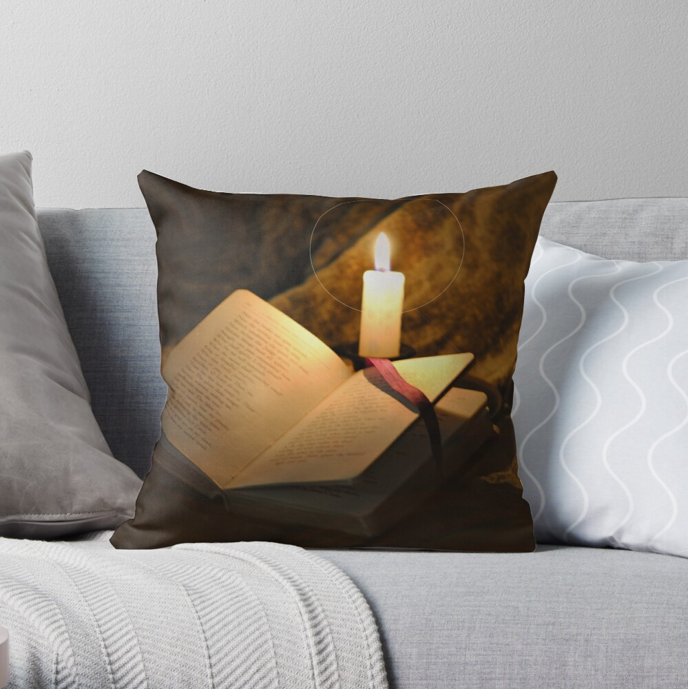 Bell, Book, and Candle Throw Pillow