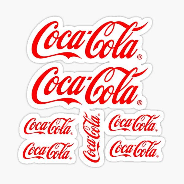 Coca Cola logo clásico grande y claro Pegatina