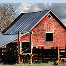 The Red Barn in the Valley by kayzsqrlz