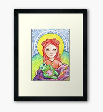 Lucy's challenge Framed Print