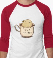 Pup of Tea Men's Baseball ¾ T-Shirt